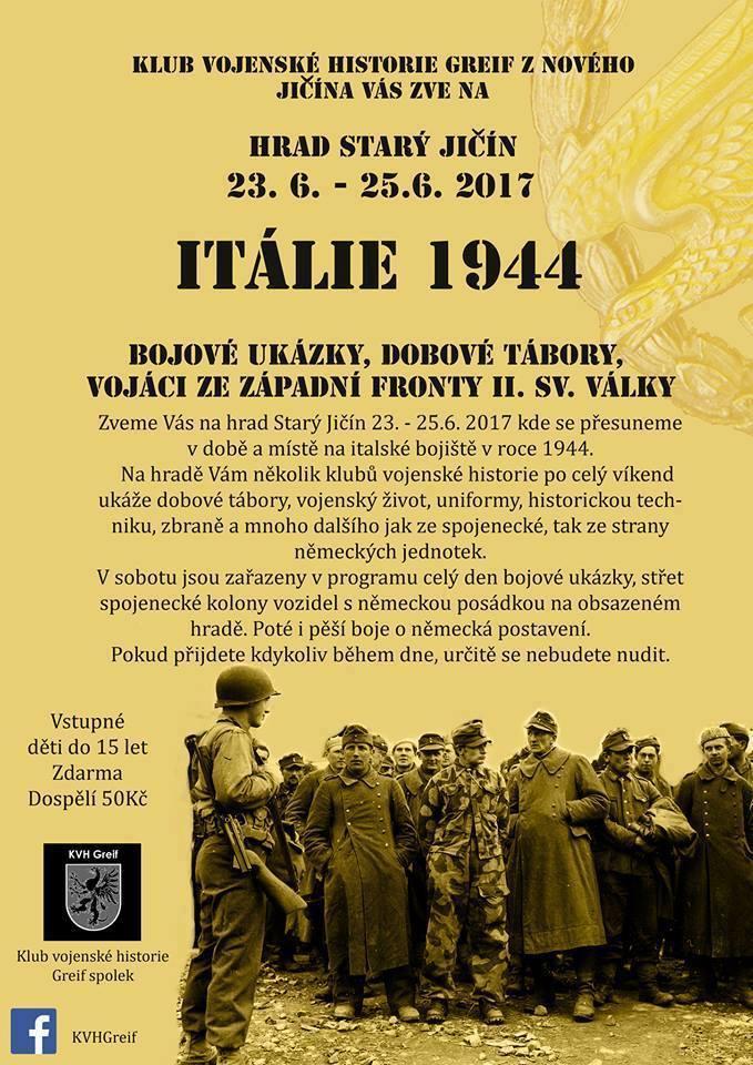 Itálie 1944 - Hrad Starý Jičín 23.6.-25.6.2017