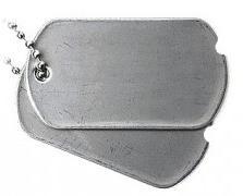 ID známky US Dog Tags stříbrné WWII válečné repro