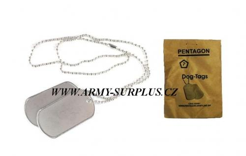 ID známky US Dog Tags stříbrné Pentagon