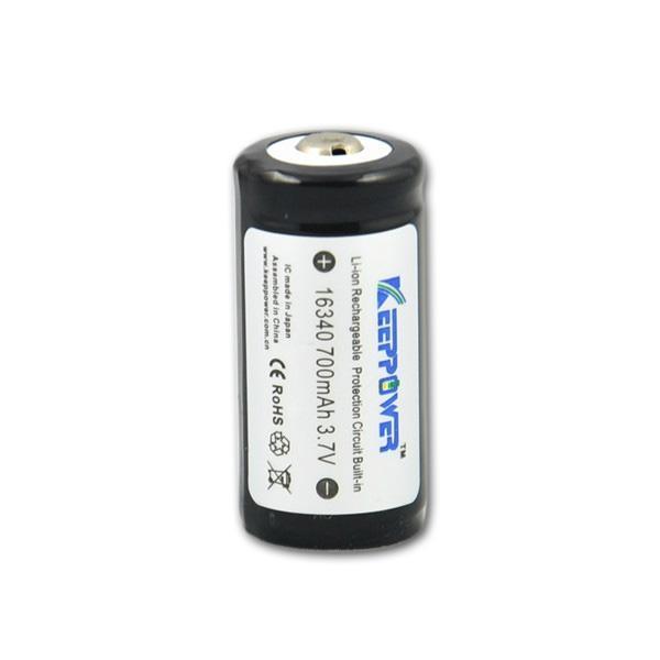 Akumulátor (nabíjecí baterie) Li-ion 16340 700mAh 3,7V Keeppower