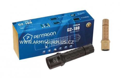 Baterka G2 -180 CREE Pentagon černá