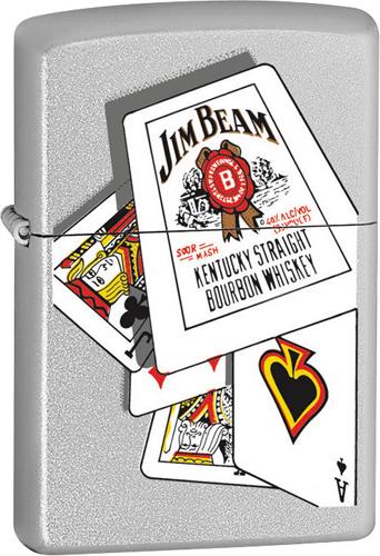 EP ZIPPO#205 JIM BEAM CARDS 20755