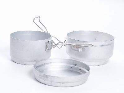 Ešus třídílný hliníkový MEVA jídelní souprava (AČR, CZ, ČSLA)