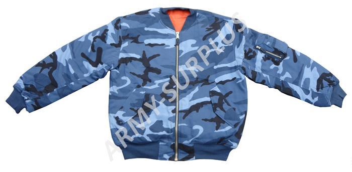 Bunda MA1 sky blue (bomber) Fostex (skyblue)