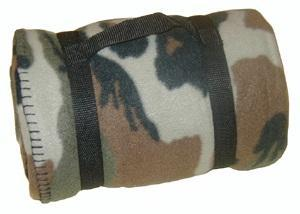 Deka (přikrývka) fleece Commando woodland 140 x 190 cm