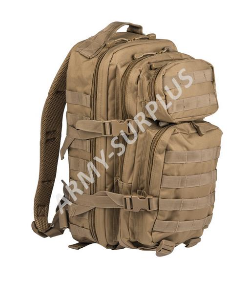 Batoh ASSAULT Pack US 20L molle coyote malý Miltec
