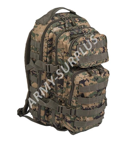 Batoh ASSAULT Pack US 20L molle Marpat digital woodland malý Miltec