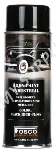 Barva ve spreji ARMY Black High Gloss 400ml
